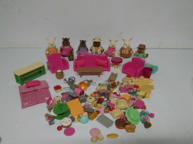 Lil Woodzeez Lot Accessories Furniture Animals Etc.