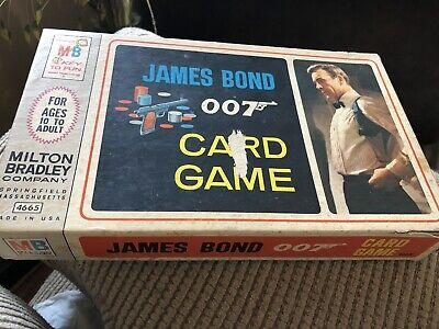 1965 James Bond 007 Card Game.  Good Condition
