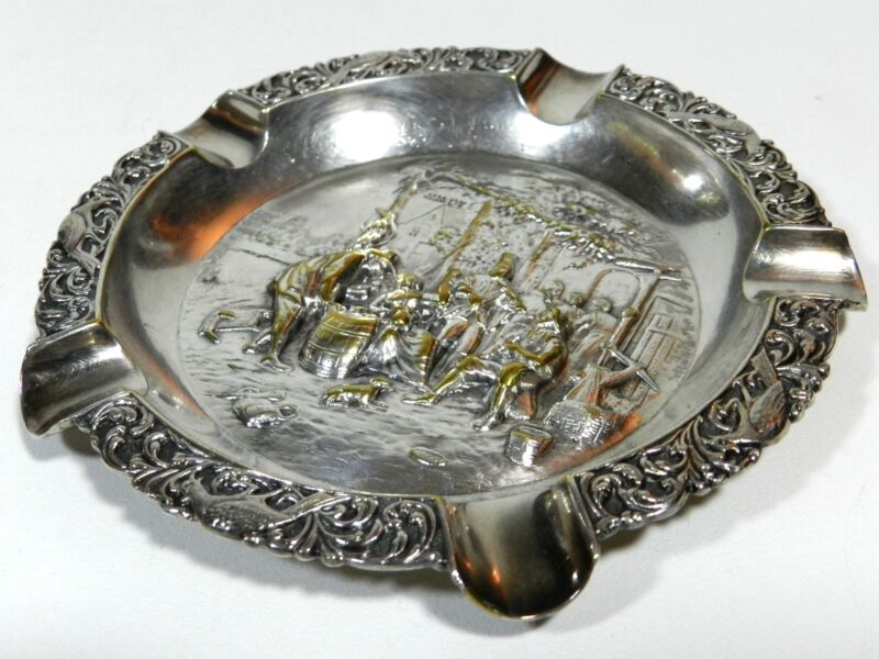 Dutch Silverplate Ashtray Holland