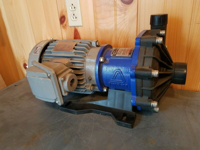 Iwaki Mag-Drive Pump MX-F402CFVX, TECO EPV0022C MAX-E1 Motor - New