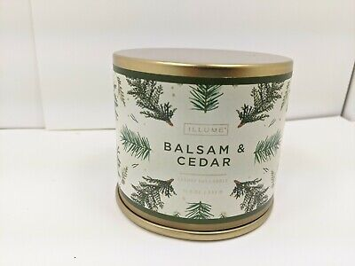 Illume Noble Holiday Collection Balsam & Cedar Vanity 11.8 oz Luxury Soy Candle