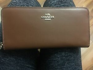 Coach leather zip wallet
