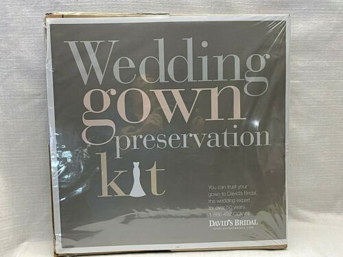 Davids Bridal Wedding Gown Preservation Kit Dress Storage Cleaning Case Display
