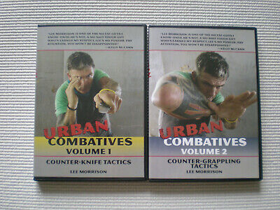 Urban Combatives 1 & 2 Lee Morrison Close Quarters Combat 2 DVD Set Jeet Kune Do