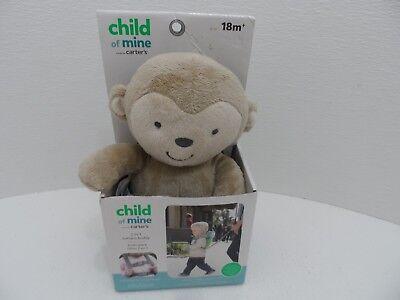 NEW Child Of Mine Carters 2 In 1 Harness Buddy Plush Grey Monkey New 18 months (Child Of Mine 2 In 1 Harness Buddy)