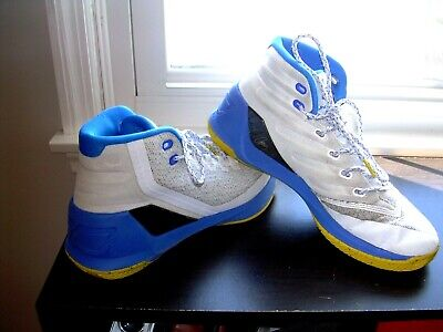 UNDER ARMOUR CURRY 3 DUB NATION HOME MENS BASKETBALL SHOES 1269279-102 SIZE 8