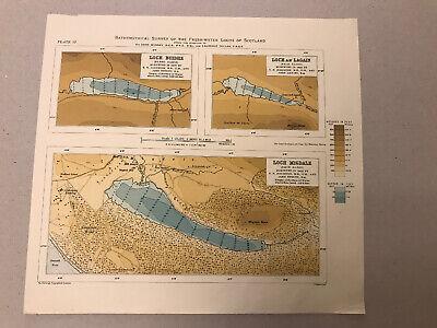 Loch Buidhe, Loch An Lagain & Loch Migdale (Shin Basin) (27 X 23cm)