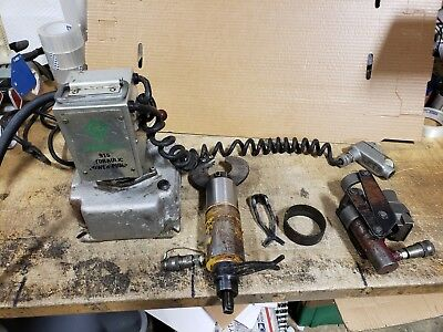 Greenlee 915 Hydraulic Pump Gb Cb200 Pipe Bender Enerpac Cs-100 Cable Cutter