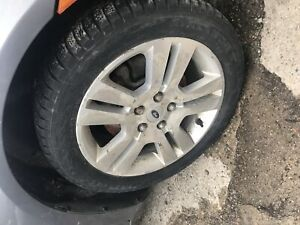 2006 Ford Fusion tires 4 winter on Rims 3 all seasons no Rims