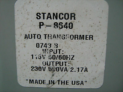 Stancor Step-up Transformer P-8640 120240 Vac 500va Free Shipping