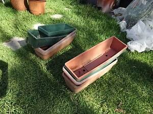 Rectangular plastic planter troughs, used, $1 each Sizes range Thornleigh Hornsby Area Preview