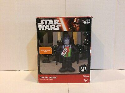 2015 Gemmy Star Wars Darth Vader Inflatable Christmas Decor w/ Present