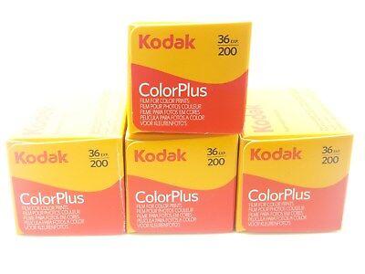 4 x KODAK COLORPLUS 200 35mm 36Exp CHEAP COLOUR PRINT FILM -1st CLASS ROYAL MAIL