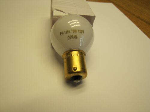 OSRAM / SYLVANIA PH/111A  Photo Enlarger Light Bulb 75W 120V PH111A 111A Lamp