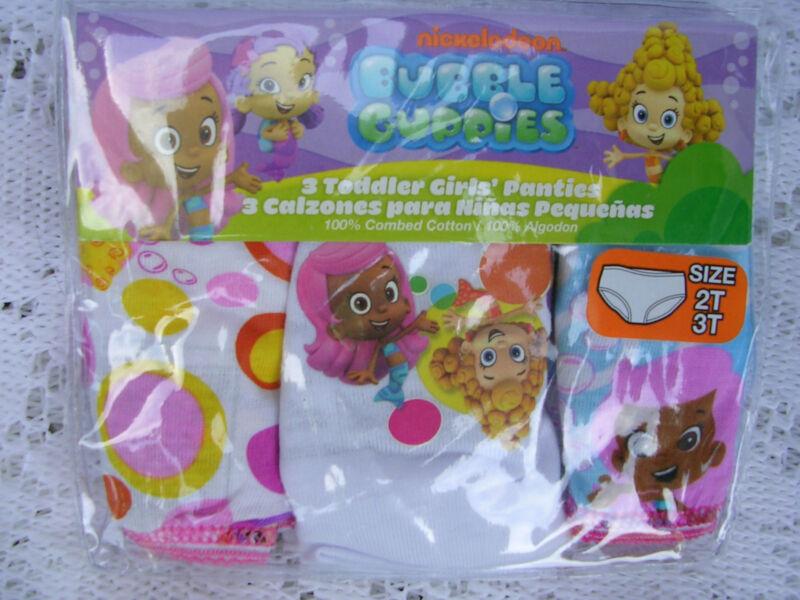 "Nickelodeon   ""BUBBLE GUPPIES""  GIRLS  3 pr.. PKG. PANTIES  SIZE 4T  NWT"