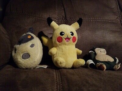 Pokemon Plush Stuffed Animal Lot Of 3