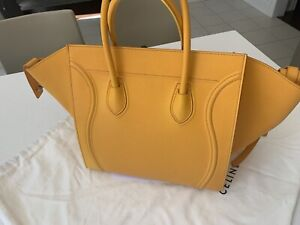 Céline Yellow Leather Hand Bag CHANEL LV $2500