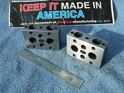 Moore 1-2-3 Blocks No.1 Toolmaker Machinist Grind Mill Inspection Quality