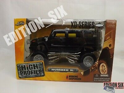Jada High Profile 1:24 HUMMER H2 Kmc Wheels New Boxed Lifted Truck XD-Series