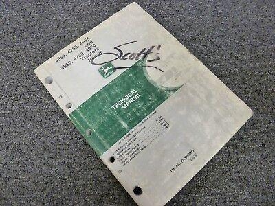 John Deere 4560 4760 4960 Tractor Shop Service Repair Technical Manual Tm1460