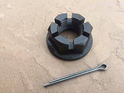 Rhino Rotary Cutter Gearbox Flanged Slotted Nut W. Cotter Pin 00777874 11-050