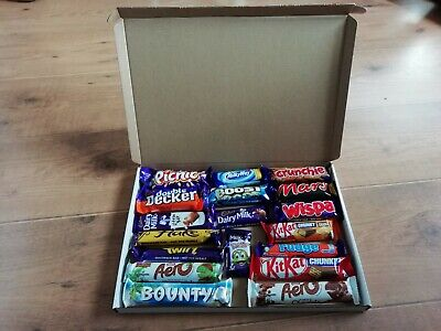 Mixed Brand Chocolate Plain Box Gift Present Hamper Gift Box 18 x Choc Bars
