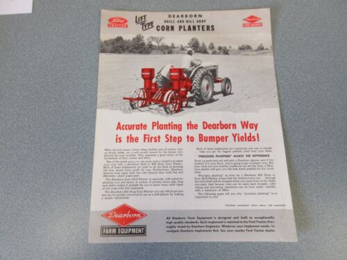 Ford Dearborn Corn Planters Sales Brochure    1953            lw