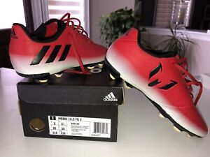 Used Messi Size 2Y boys soccer shoes