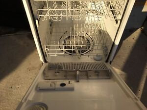 White built in dishwasher