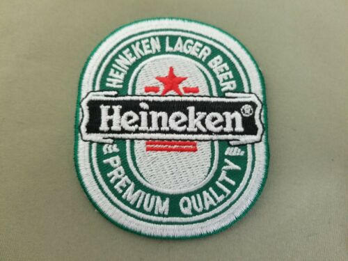 Heineken Beer embroidered iron on patch.