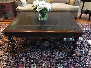 theodore alexander Wood Metal Designer Coffe Table