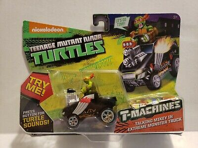 T-Machines TMNT Ninja Turtles Talking Mikey in Extreme Monster Truck NEW