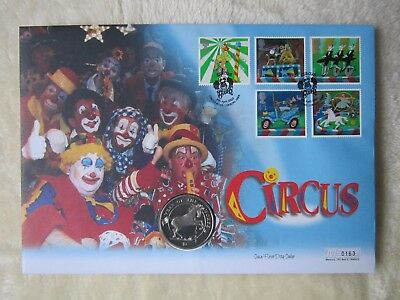 'Circus' Coin First Day Cover with Royal Mail's Stamps & Year of the Horse Coin