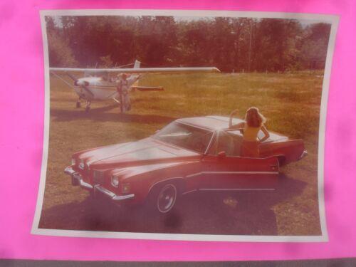 (2) Vintage Original GM 1972 Pontiac Grand Prix Concept Car 8 x 10 Color Photos