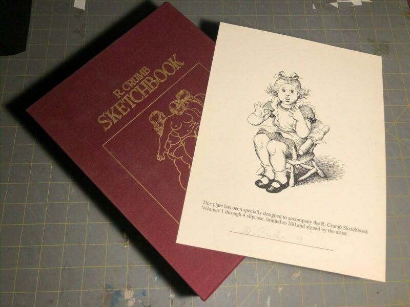 R. Crumb Sketchbook Slipcase Volume 1, 2, 3, and 4 with SIGNED Plate