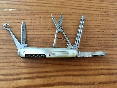 IXL George Wostenholm Knife Multi Function Corkscrew Scissors File Button Hook
