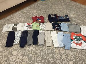 Baby boy clothes and sleepers 0-3 months