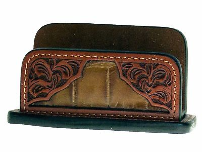 Western Leather Business Card Displaygatortooled