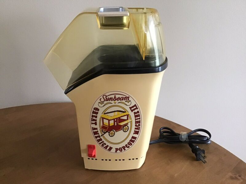 Vintage Sunbeam Great American Popcorn Machine II Great Condition