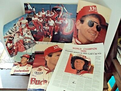 Hydroplane Boat Driver Chip Hanauer Miss Budweiser Lot Of 6 Memorabilia Photos