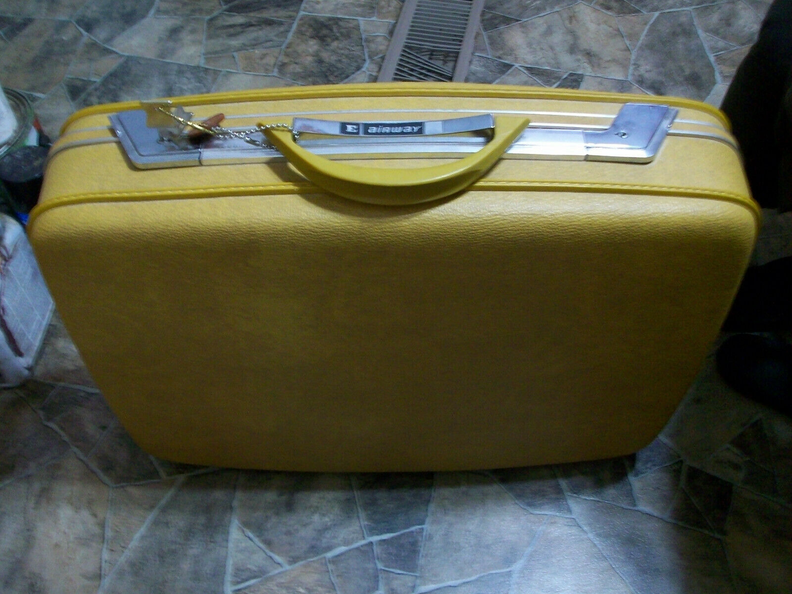 Vintage Airway Suitcase Yellow - $9.99