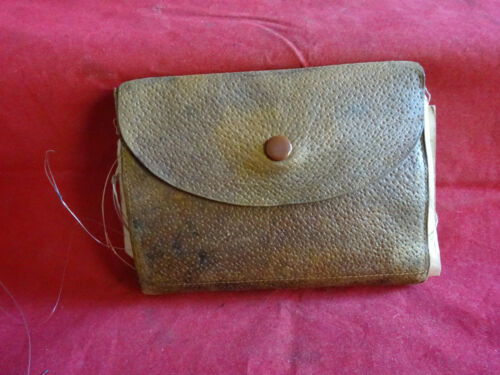 A VINTAGE W R PAPE NEWCASTLE, FLY/CAST WALLET AND CONTENTS, FLIES ETC.