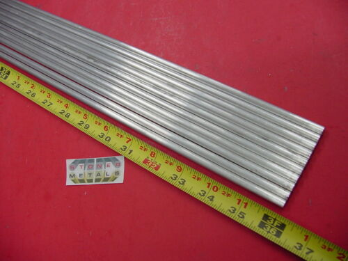 """10 pieces 1/4"""" ALUMINUM 6061 ROUND ROD 36"""" long T6511 Solid Lathe Stock 30"""