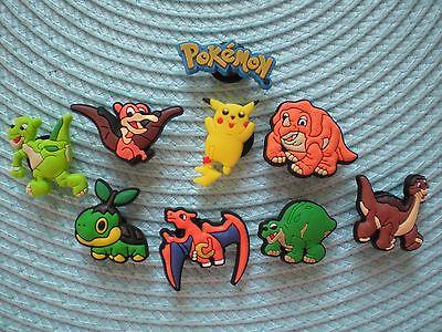 Jibbitz Croc Clog Shoe Charms Plug 9 Pokemon Fit Kid Holey Accessories WristBand