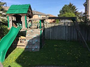 Swing set play centre wood for parts