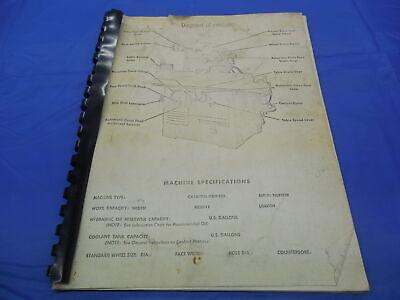 Thompson Model B Hydraulic Surface Grinder Operating Instruction Manual B538