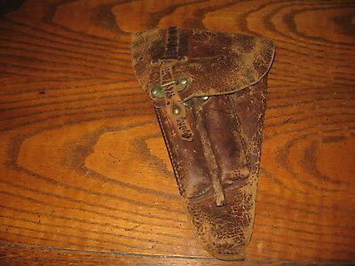 Swedish brown leather Lahti holster military 9mm m/40 poor used  worn