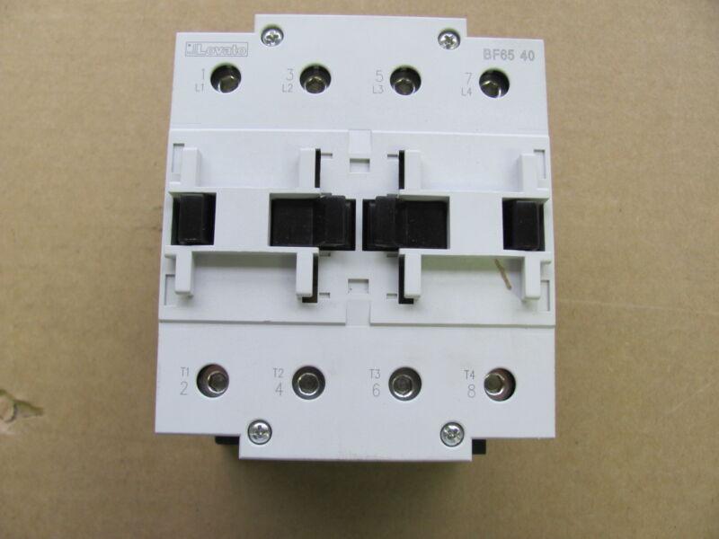 Lovato 4-pole contactor, 11BF654012060, 120V coil, New, 110 Amp, 600 V, BF65