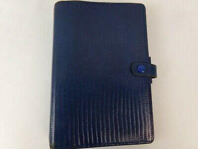 Filofax Tejus Personal Organizer Folio Calf Leather Blue Planner 6-ring Binder
