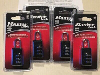 Set Of 4 - New Master Lock 646d 1116 Resettable Combination Padlock Lock  F3